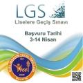 LGS (Liselere Geçiş Sınavı)  başvuruları başlamıştır.